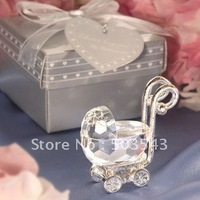 Factory directly sale 10PCS/LOT baby shower Choice Crystal Baby Carriage in Gift Box