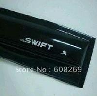 freeshipping! 2012 Wholesale Suzuki Swift + special thickened with bright strip block /WINDOW VISOR SUN RAIN GUARD