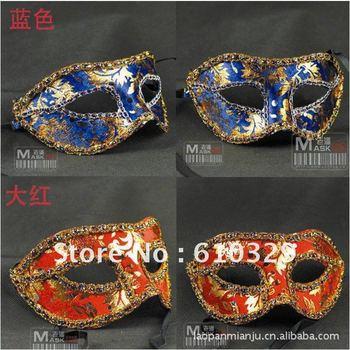 Free Shipping wholesales 20pcs/lot Halloween Party venetian Half Face mask lace masquerade mask masks for masquerade ball