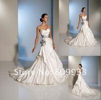 2012 new hot fashion luxury satin Valentine's Bra trailing wedding