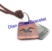 Freeshipping wholesale high quality mix different 20pcs a  lot leather  necklace men necklace alloy necklace men jewellery PL224