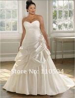 w642 New style sati strapless plus size wedding dress