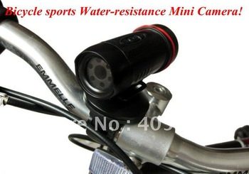 Bicycle sports mini DV Water-resistance Mini Camera (withstanding snow and rain) Free shipping!