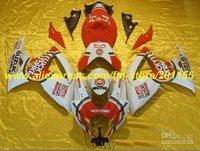 Red white Fairings set for SUZUKI GSXR 750 600 2006 2007 Injection mold GSXR600 GSXR750 K6 06 07 LUCKY STRIKE FAIRING KIT
