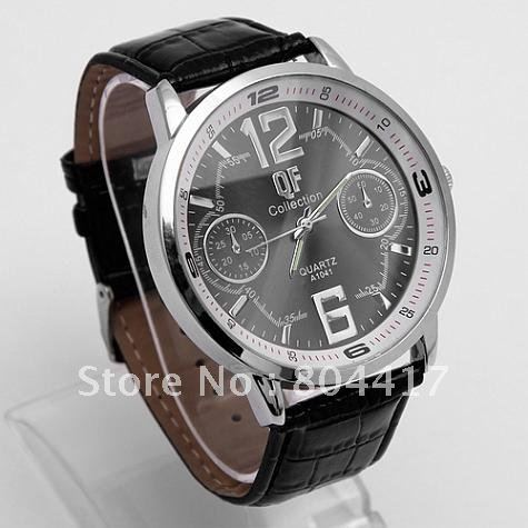 Free Shipping! 1PC Deluxe Leather Gentle Man Men Analog Casual Fashion Gift Dress Quartz Wrist Watches, 3 Colors Available(China (Mainland))