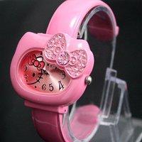 30PCS EMS Hello Kitty watch hellokitty Children watch Cat watches Wrist watch wristwatch with diamond Lovely watch Fashion Watch