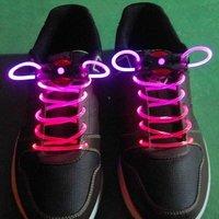 Free shipping+Promotion 200PCS LED Flashing Shoelaces 2008 models Mix colors
