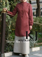 2013 fashionable islamic women shirt muslim top free shipping