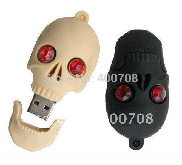Skull heads flash drive usb,32gb 2gb 4gb 8gb 16GB usb Promotion flash memory drive,thumb drive/pen drive free shipping 10pcs/lot(China (Mainland))