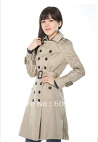 New Fashion Women trench coat winter clothes outerwear overcoat