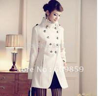 Women coat fashion overcoat/ Napoleon military uniform double breast winter coat /jacket outerwear/Military style Jacket