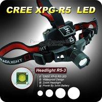 Лампа для головы 1PC NEW Design HeadLight CREE XML XM-L T6 LED 1200 Lumens 3 Mode Waterproof Zoom Focus Front Light LED HeadLamp