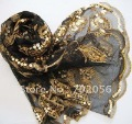 Shinning Sequin style Women&#39;s scarf Shawl Wraps Poncho wrap 10pcs/lot #1577