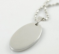 Hot sale 3.4*2.4cm stainless steel Oval  dog  ID Tags