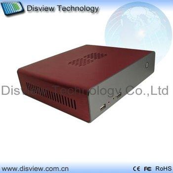 Factory Outlet: High Performance cloud terminal mini POS PC desktop computer Box 52H-2: CPU D525/RAM 1GB/ SSD 32GB/Dual LAN/WIFI