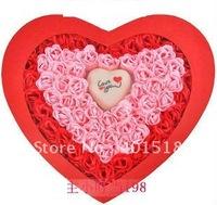 Wholesale Rose Scent Flower Soap Bath Rose Soap Petal with Heart Shape LED Light 6set(100pcs/set)