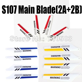 free shipping Original  Syma S107 main blade (A+B) yellow,blue,red HOT Seller