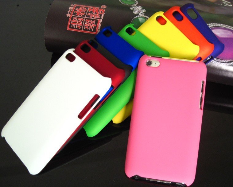 Free Shipping 10PCS/LOT Accessories Hard Skin Case Cover For iPod Touch4 4th Gen 4G itouch 4(China (Mainland))