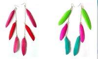 wholesales or resales Bohemian style  jewelry zircon water-drop earrings diamond studs free shipping