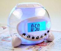 Free Shipping Colorful music ball alarm clock, Lazy LED Colorful color Alarm Clock 0.19kg 10pcs/lot