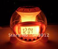 Free Shipping Colorful music ball alarm clock, Lazy LED Colorful color Alarm Clock 0.19kg 20pcs/lot