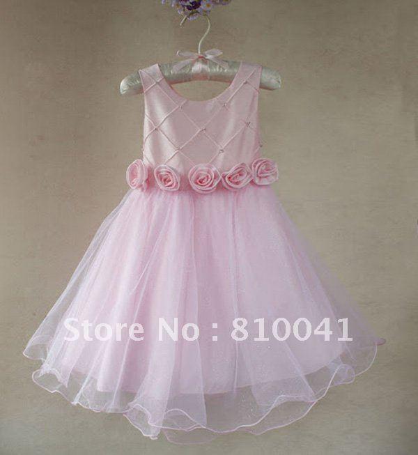 2018 Wholesale Children\'S Bowtie Dress Kids Flower Dresses Chindren ...