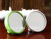 Free Shipping Beauty Mirror Alarm Clock, Digital Mirror Calendar LED  alarm clock, 70g 50pcs/lot