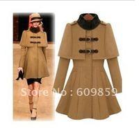 new qiu dong han edition noble shawl collars cloak coat brown njghd coats