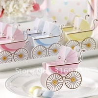 Free shipping , baby shower wedding candy boxes Gift paper box favor packaging boxes pink blue colors