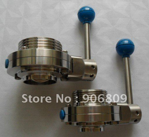 DN25 threaded butterfly valve weld butterfly valve Stainless steel health level Safety(China (Mainland))