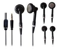 Black earphone  for iPhone iPad with 15mm speaker and 1.2m cord length