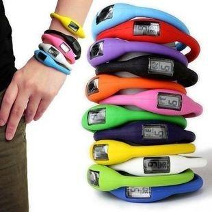 EZ372 13 colours wholesale Free shipping 2015 fashion NEW Anion Sports Wrist Bracelet Watch men women Digital Silicon LED Watch(China (Mainland))