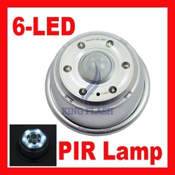 Free shipping 6 LED PIR auto Sensor Light Infrared Lamp Motion Detector Free Shipping(China (Mainland))