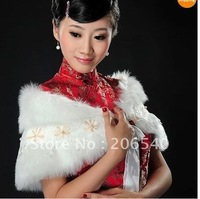 free shipping  hot selling  dropp shipping Faux Fur Stole Wrap Shrug Bolero Coat Bride shawl #06