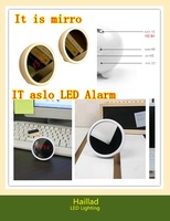 LED clock ( it is also a mirror ) Korea creative mute individual electronic alarm clock