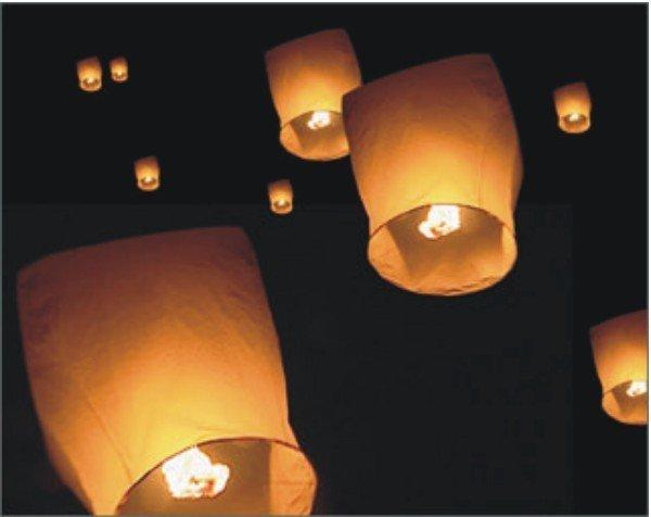 100 pcs heart Sky Lanterns, Wishing Lamp SKY CHINESE LANTERNS BIRTHDAY WEDDING PARTY 004(China (Mainland))