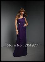 Платье для подружки невесты 2013 Brand New Scoop Neckline One-Shoulder Chiffion Bridesmaid Dress BSD-22