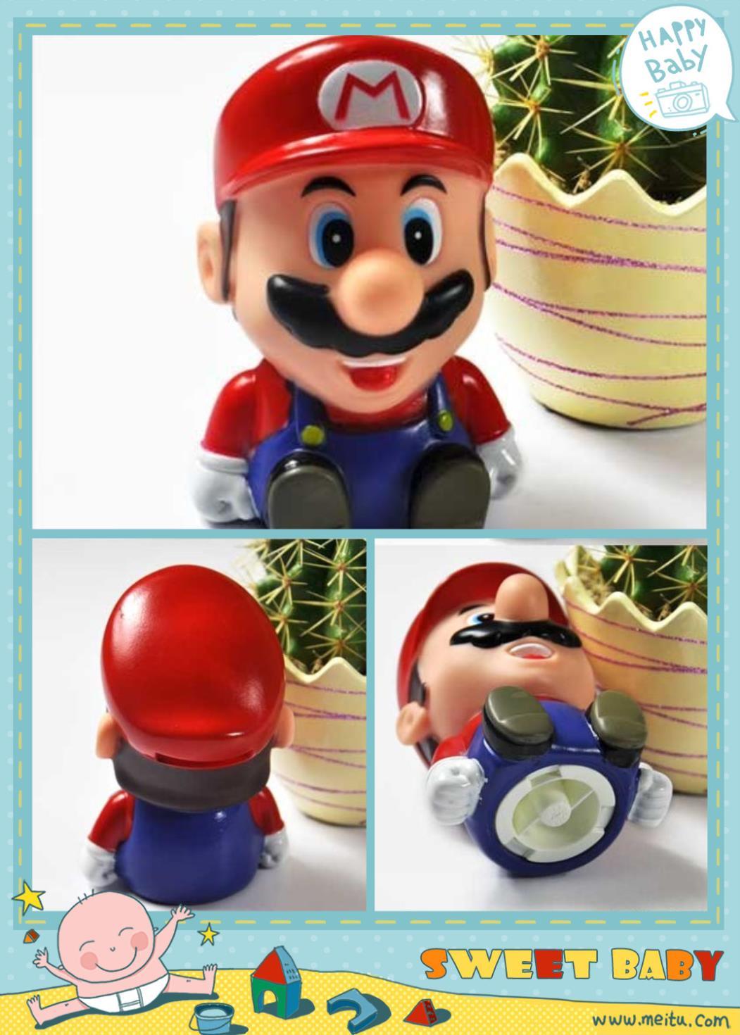 Super Mario Sitting Bros Coin Piggy Money Bank Red TG0892