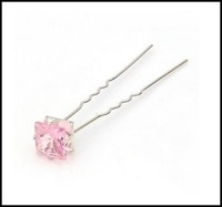 HP003 Free shipping Bridal girl crystal hair pins shining clear Rhinestones hair pin several color for choose