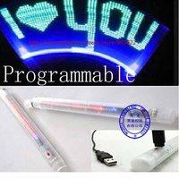 30pcs/lot Free shipping Programmable 32 LED  flash word stick M607
