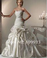2012 new boutique luxury rich taffeta silk Bra tail wedding dress