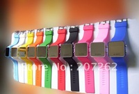 30pcs/lot free shipping Fashion watches ODM  Wholesale candy  led digital mirror Watch