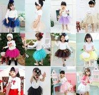 Children's clothing Summer tutu skirt pleated skirt Veil skirt