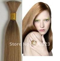 """Human virgin hair bulk extension 20"""" 24"""" 26"""" 30"""" #12 light brown, Hair Bulk virgin extensions MICRO BRAIDING 1kg/lot"""