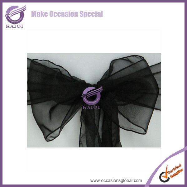 black 3557 organza sashes wedding chair organza sash wedding dress