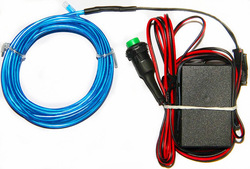 10 Meters EL Wires With DC12V Inverter of Push-Button +Free Shipping (Blue)(China (Mainland))