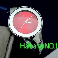 New KIMIO Red Round Dial Quartz Ladies ALLOY CASE STRAP ANALOG Wrist Watch GIFT K2682L Red