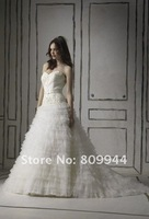 w554 High quality strapless sweetheart neckline wedding gown