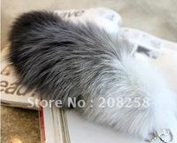 Free Shipping Fox Fur Tail charm lovely fashion accessory cosplay key chain(Really Natural Fox Fur) 5pcs/lot