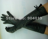 Long 45cm sexy Genuine Lamb Leather Opera Gloves S